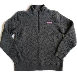 Vineyard Vines grey quilted shep shirt